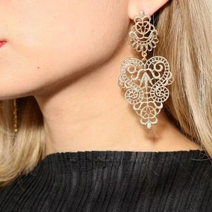 *Summer* Damask Dangling earrings